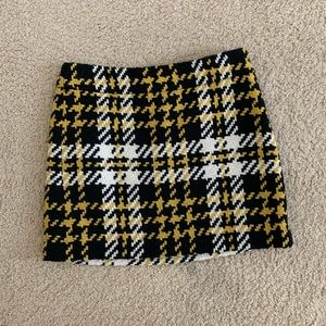 J. Crew Plaid Wool Mini Skirt